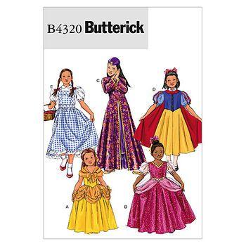 Mccall Pattern B4320 Child (2-3-Butterick Pattern | Halloween ...