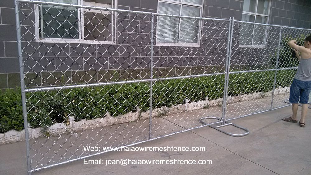 Check Most Popular Temporaryfence On U S Markt Chainlinkpanel With Steel Stand From Haiao Height 6ft 8ft L Chain Link Fence Chain Link Fence Panels Fence