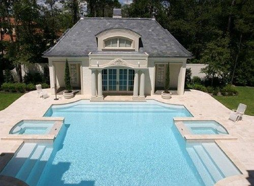 outdoor living pool house pool