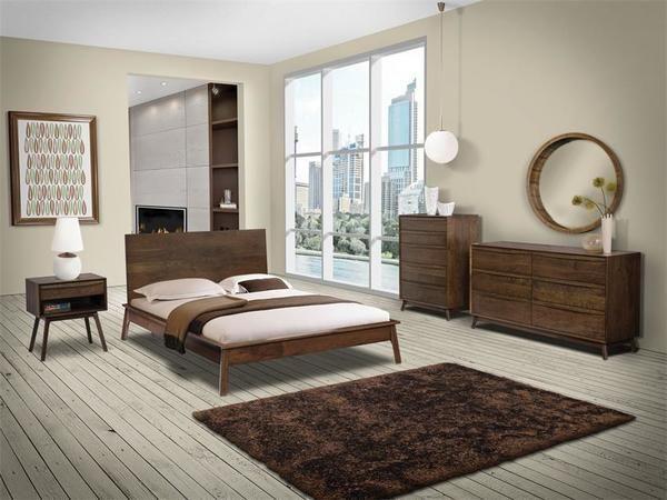 Hastingwood Mid Century Modern Four Piece Bedroom Set Modern bedroom