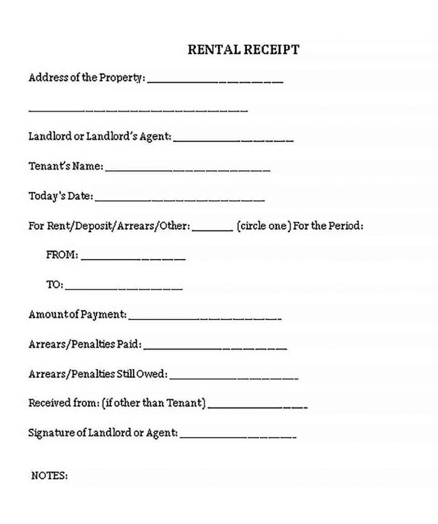 Explore Our Printable Vacation Rental Receipt Template Receipt Template Being A Landlord Receipt