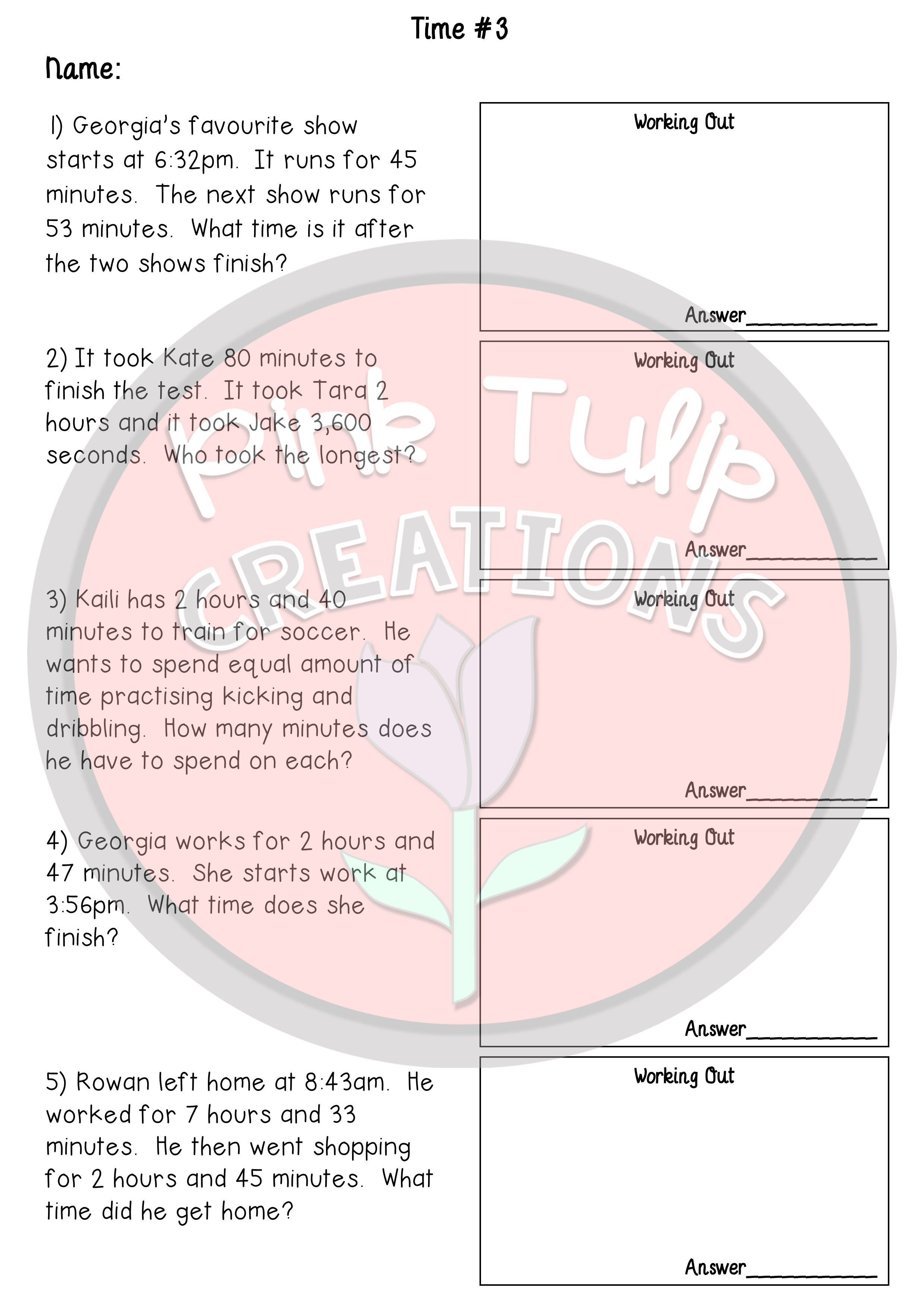 4 Addition And Subtraction Worksheets 4 Multiplication And Division Worksheets Addition And Subtraction Worksheets Subtraction Worksheets Time Worksheets