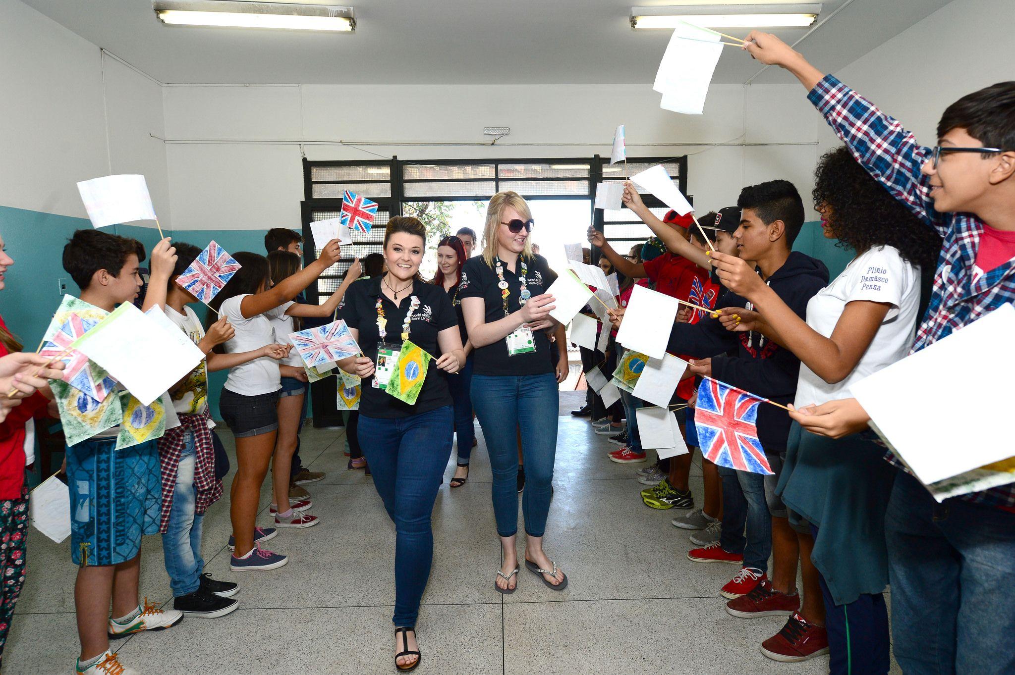 Team UK visit local Sao Paulo school