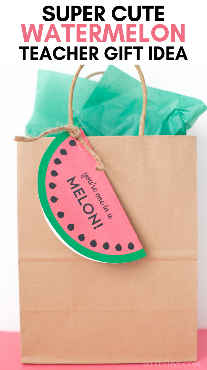 Cute Watermelon Teacher Appreciation Gift Idea #custodianappreciationgifts