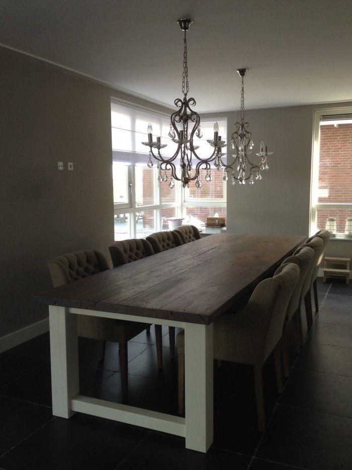 Eettafel Met Stoelen Riviera Maison.Landelijke Eetkamer Tafel 350cm X 100cm Voor 8 Stoelen Boven