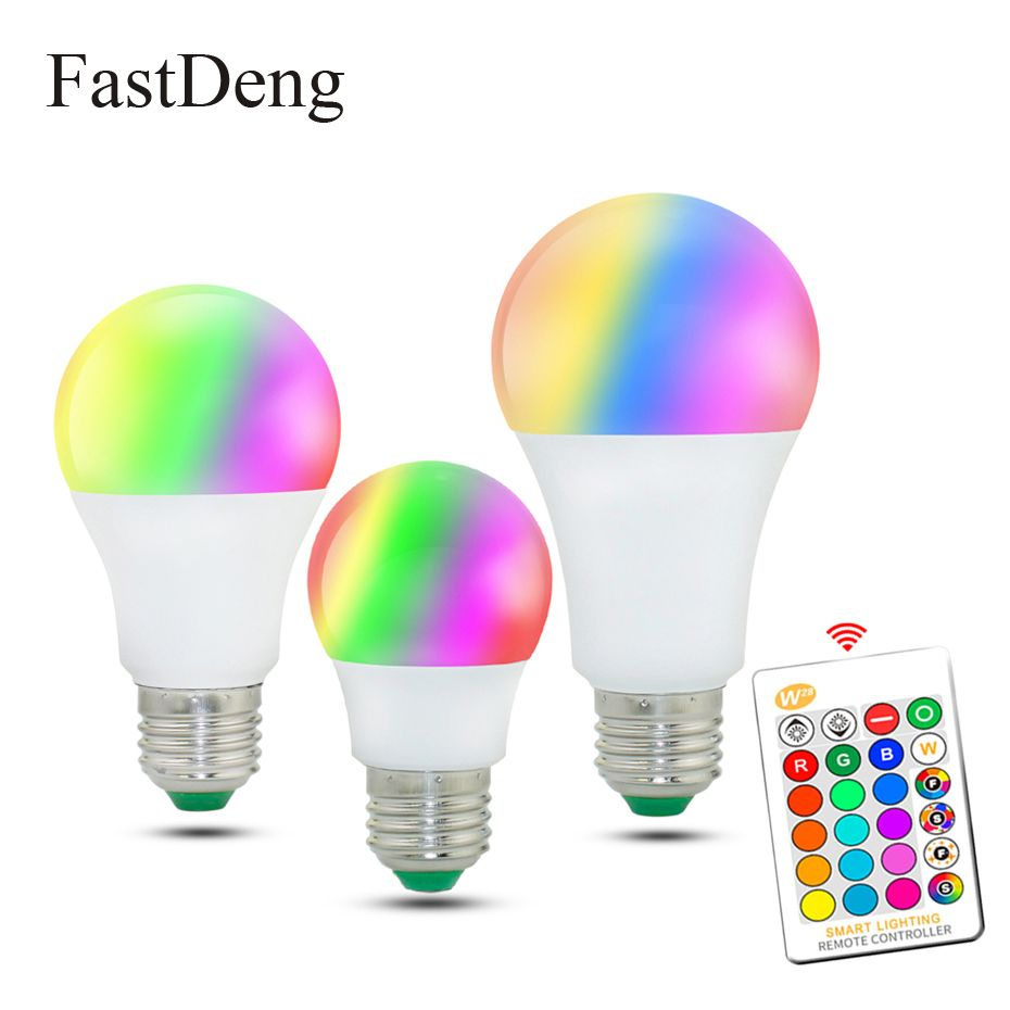 110v 220v E27 Rgb Led Bulb Lights 5w 10w 15w Rgb Lampada Changeable Colorful Rgbw Led Lamp With Ir Remote Controlmemory Mo In 2020 Led Bulb Colored Light Bulbs Rgb Led