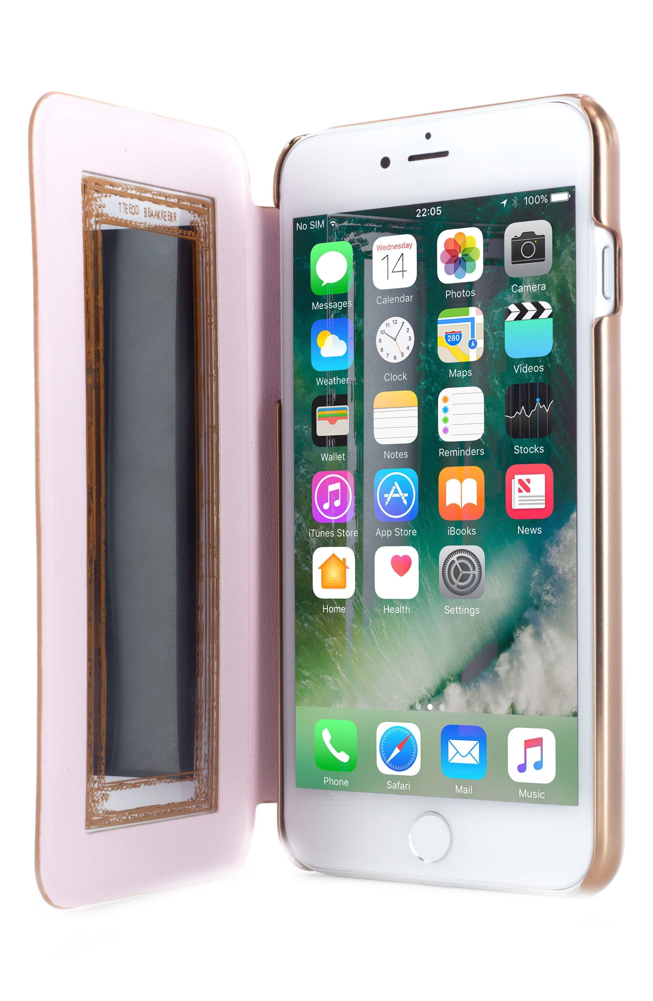 New Ted Baker London Kadia iPhone 6/7 Plus Mirror Folio Case fashion online. [$49.99]?@shop.seehandbags<<