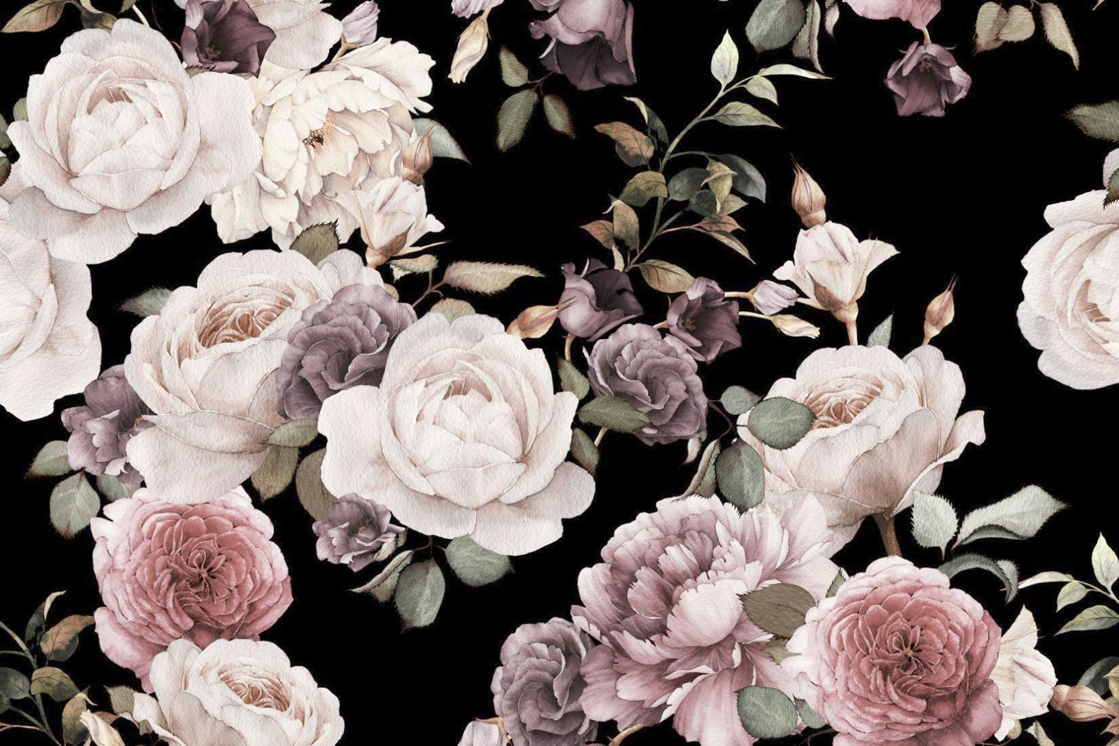 Vintage Floral Background High Resolution Cute Flowers Hd Wallpapers Free Download Floral Wallpaper Vintage Floral Wallpapers Black Floral Wallpaper