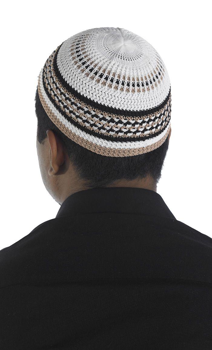 Prayer Kufi. Hand crocheted. 100% Cotton | Hajj and Prayer | Pinterest