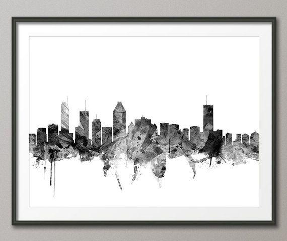Skyline De Montreal Impression D Art Urbain Montreal Canada 1458
