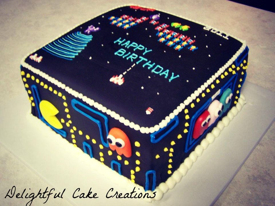 Pacmanspace invaders birthday cake by delightful cake creations gluten free pacmanspace invaders birthday cake by delightful cake creations publicscrutiny Choice Image