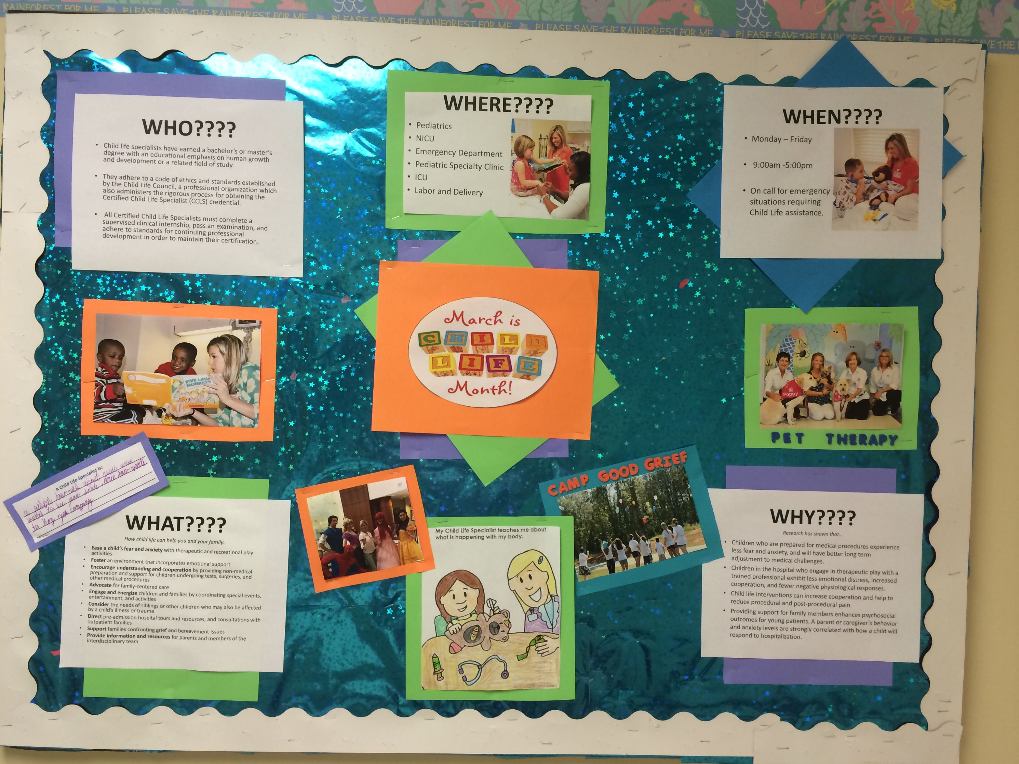 Child Life Month Bulletin Board At Phoebe Putney Memorial Hospital