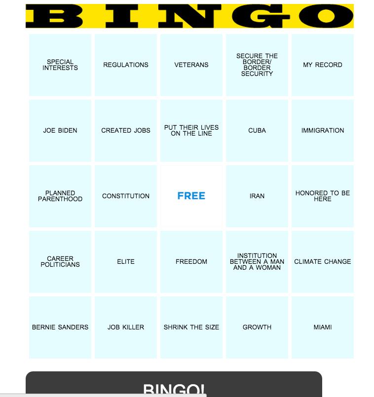 debate bingo 2015 - Google Search