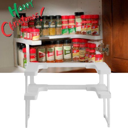Practical Universal Spice Rack And Stackable Organizer