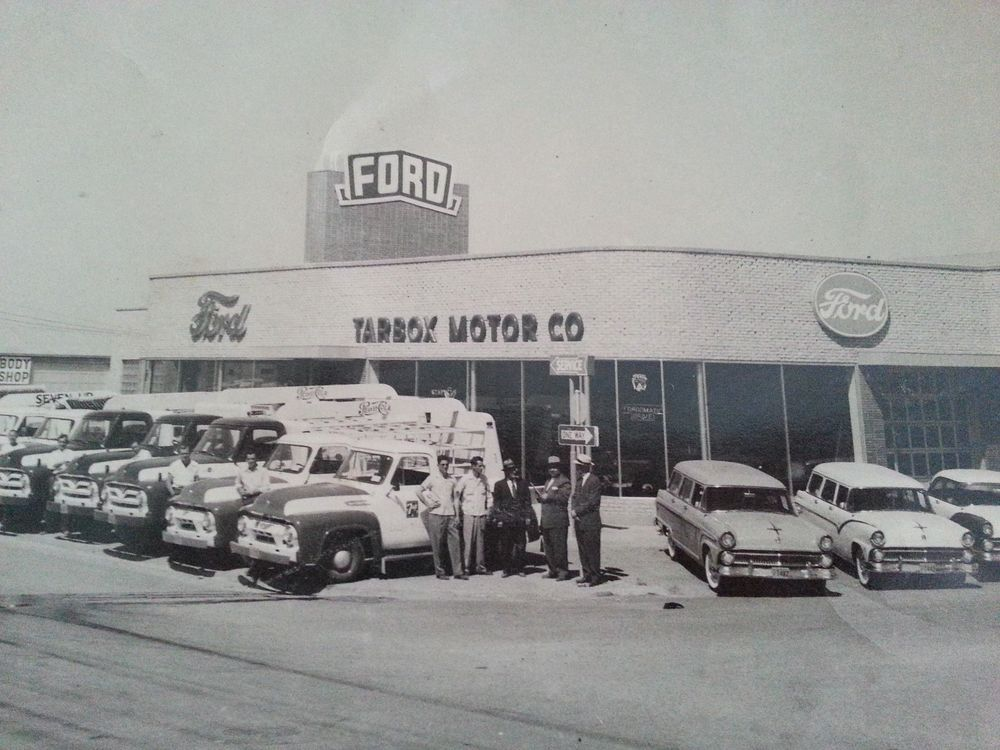 Vintage Photograph Tarbox Ford Dealership 1950s Photo Men With
