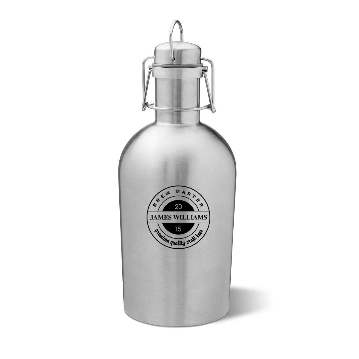 Custom Logo Stainless Steel 1 2 Gallon Growler With Swing Top Lid