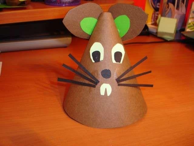 manualidades para nios ideas fciles con papel manualidades para nios ratn de cartulina - Manualidades Faciles Para Nios