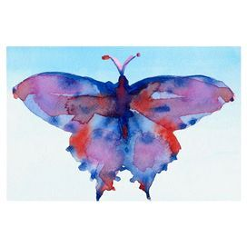 Canvas giclee print featuring a multicolor butterfly. Made in the USA.  Product: Canvas printConstruction Material: Canvas and woodFeatures:  Original art by Beverly BrownGallery wrappedMade in the USA