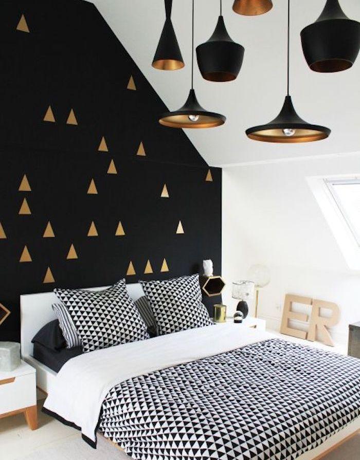 1001 astuces et id es pour choisir un papier peint chambre tendance. Black Bedroom Furniture Sets. Home Design Ideas