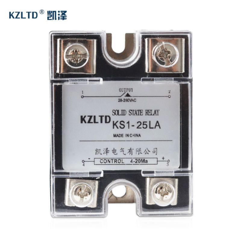 SSR25LA 420MA to AC Relay Output 28280V AC 1 Phase Solid State