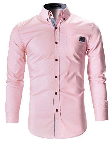 1630608e82d8 FLATSEVEN Herren Freizeit Business Hemd Slim Fit mit Kari…   Style ...