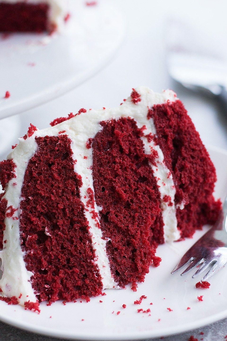 Moist Red Velvet Cake And Whipped Cream Cheese Frosting Recipe Red Velvet Cake Whipped Cream Cheese Frosting Velvet Cake
