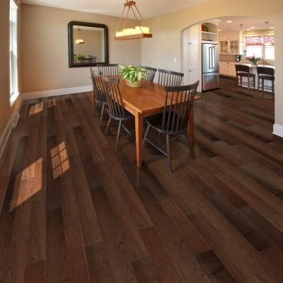Home Legend Wire Brushed Benson Hickory 3 8 In T X 5 In W X Varying Length Click Lock Hardwood Flooring 19 686 Sq Ft Case Hl194h Hardwood Floors Hardwood Flooring