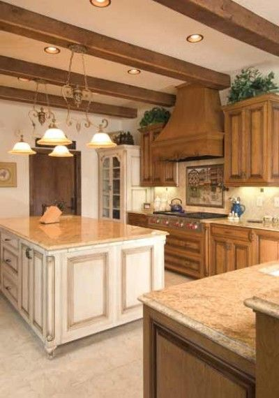 The look of furniture-style cabinetry   Luxury kitchens ...
