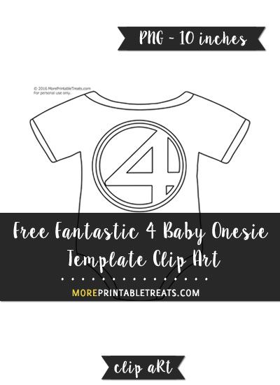 Free Fantastic  Baby Onesie Template  Clipart  Printables