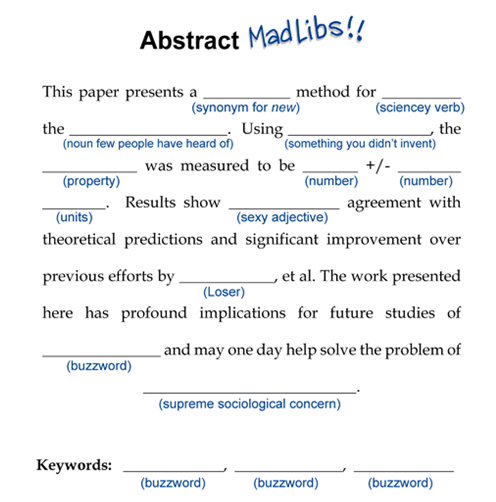 how do you write an abstract for a research paper