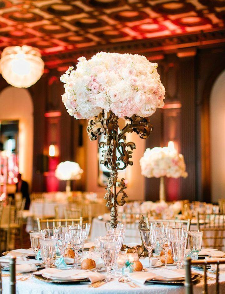 Wedding reception centerpiece idea; Featured photographer: Clane Gessel Photography
