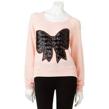 Jerry Leigh Sequin Bow Sweater - Juniors @DeEtte Wiberg yay or nah? I have 10 bucks kohls cash