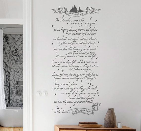 Https://www.etsy.com/uk/listing/478846146/ · In This HouseWall DecalsHarry  PotterWall Decal