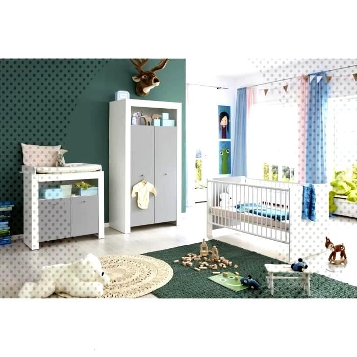 Complete Blancgris 70140cm Armoire Chambre Commode Bebe Lit