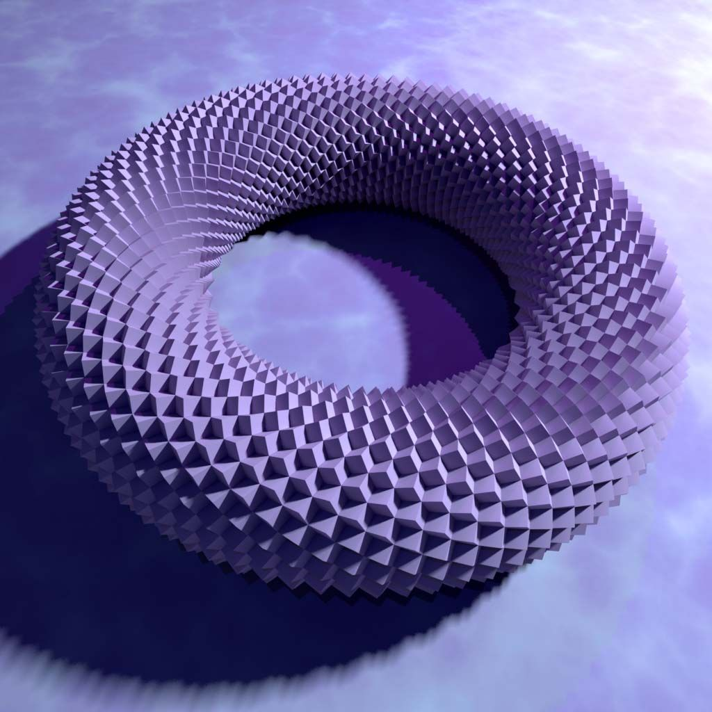 Stacked cube Clifford torus #3dPrintedShapes