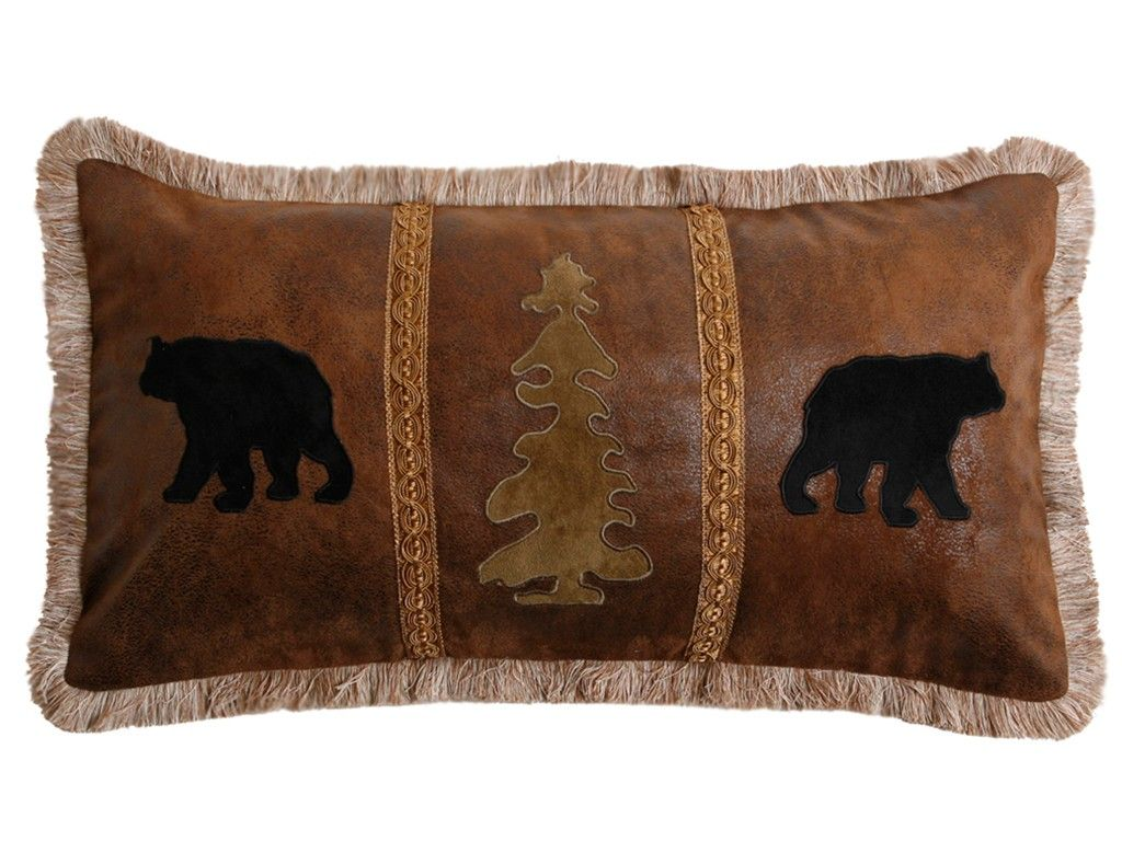 Bear Country Tree Pillow | Pillows, Bear decor, Black bear ...