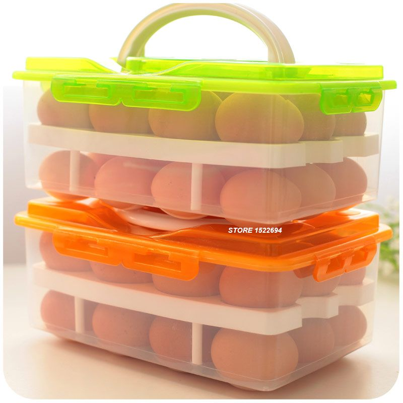 Cheap storage tool, Buy Quality storage box 24 directly from China storage box Suppliers: K2 Home Eggs Container Storage Box 24 Grid Bilayer Basket Organizer Kitchen Gadgets Items Refrigerator Storage Tool