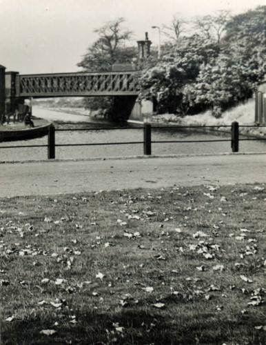View of Monton Green and Bridge Oct' 1957