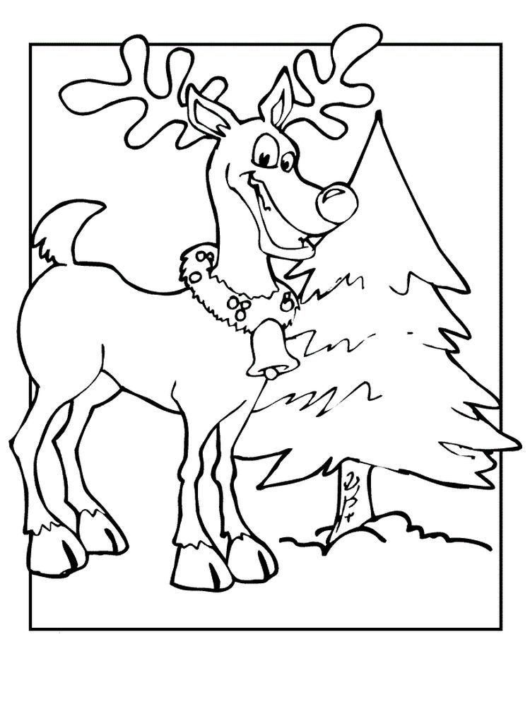 Reindeer Coloring Pages Free Printable Reindeer Are Animals That Are Considered To Be Very Numerous In Almost All Parts Of The World Except Australia And Antar