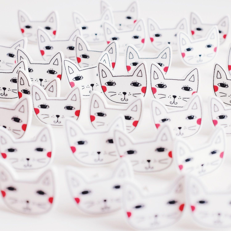 Kitty Attack! Super cute shrink plastic earrings