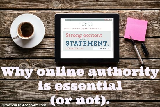 Why online authority is essential (or not). Is it important to be an online authority? Here's our take on it.
