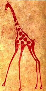 14d46df04ed14 Tassili giraffe cave painting | Prehistoric Neolithic and ...