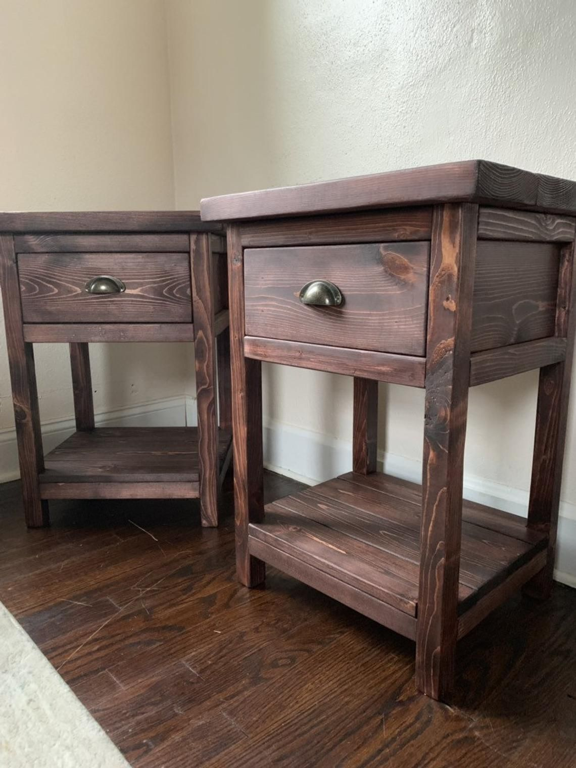 Chelsea Farmhouse Nightstand End Table w/ Drawer