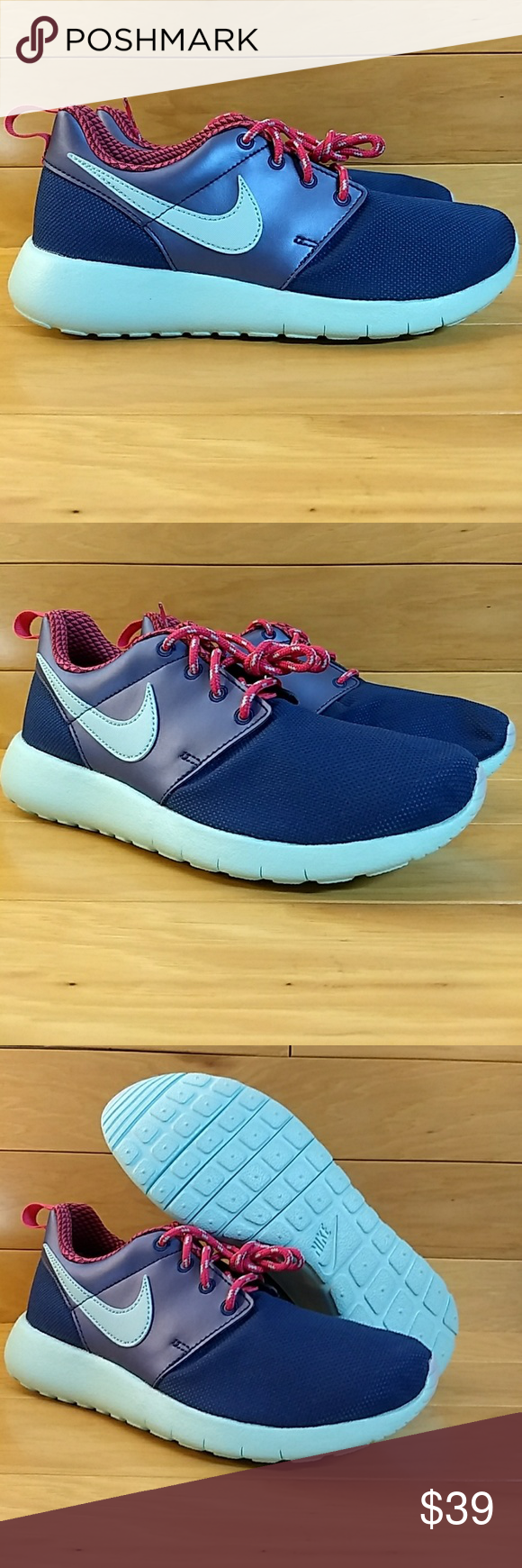 64e546ab135a Nike Roshe One GS 5Y Blue Pink Youth Sneaker Item  Nike Roshe One GS Style