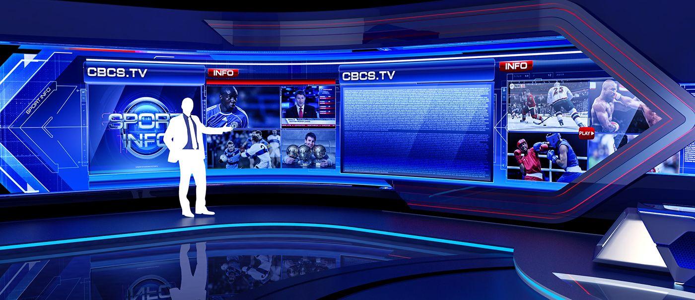 CBCS TV on Behance Tv set design, Virtual studio