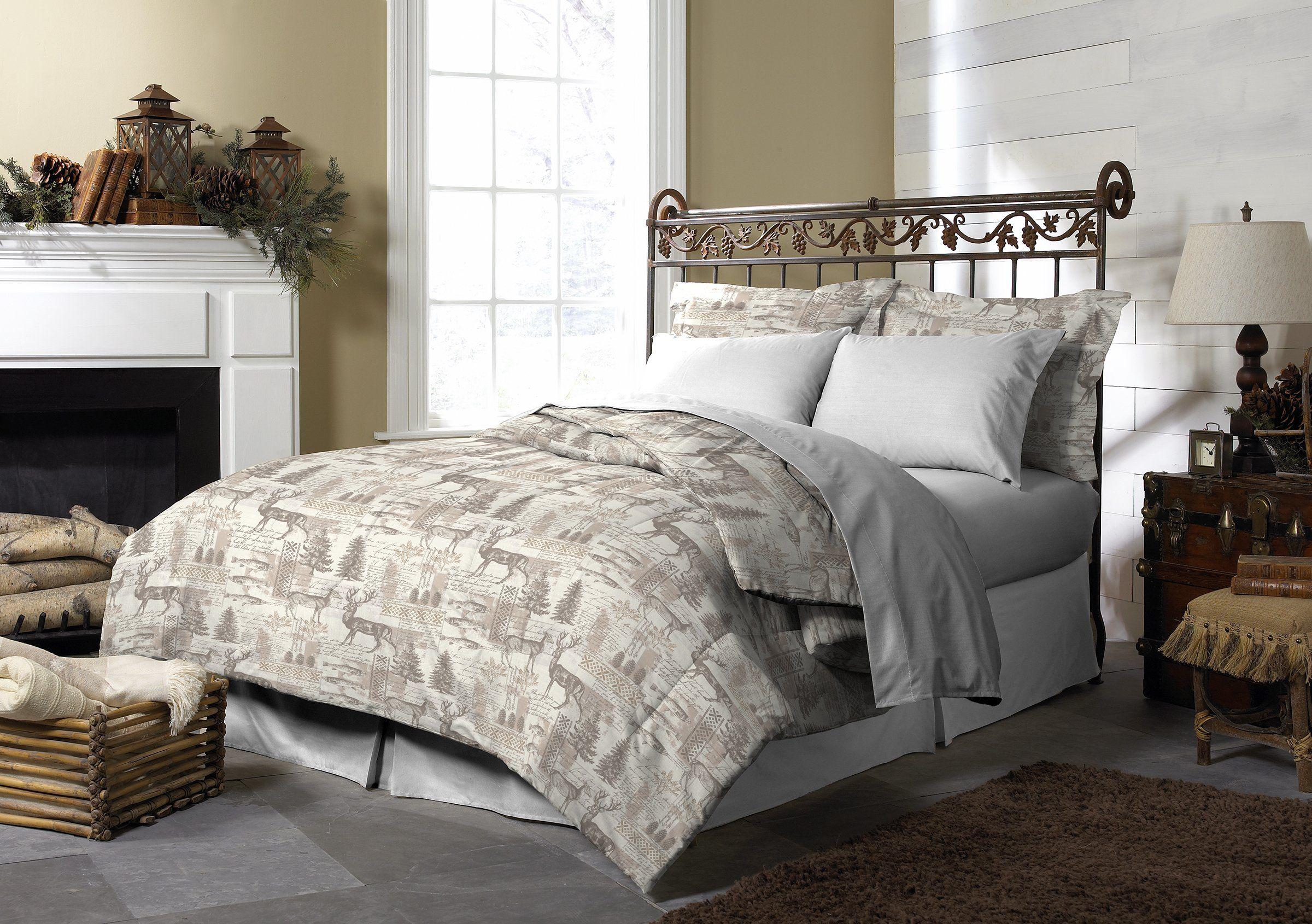 pine creek lodge comforter set including shams premium luxury bed
