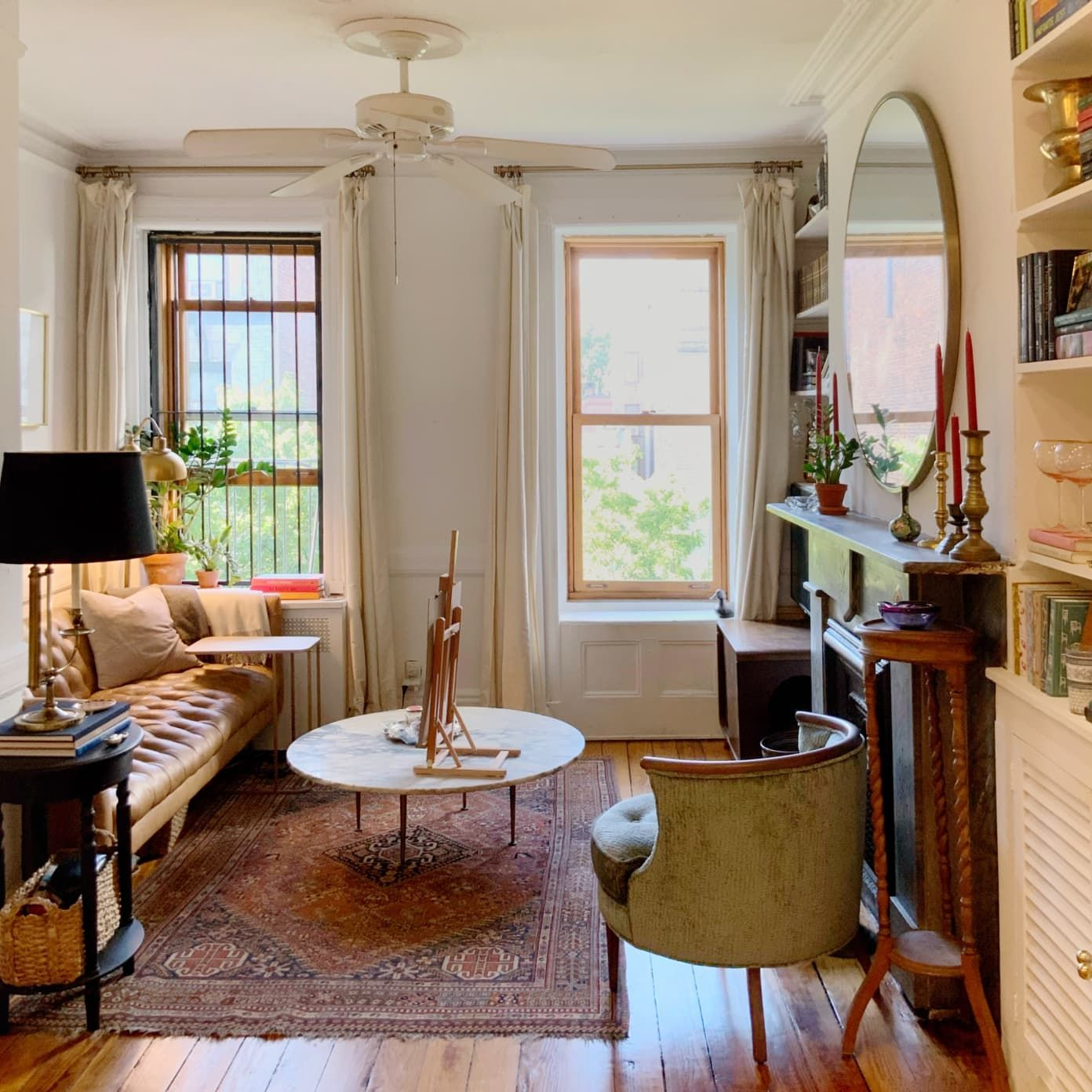 A 350 Square Foot Nyc Rental Apartment Wisely Uses Hooks Mirrors And More In Small Space Inspiration Spaces Living