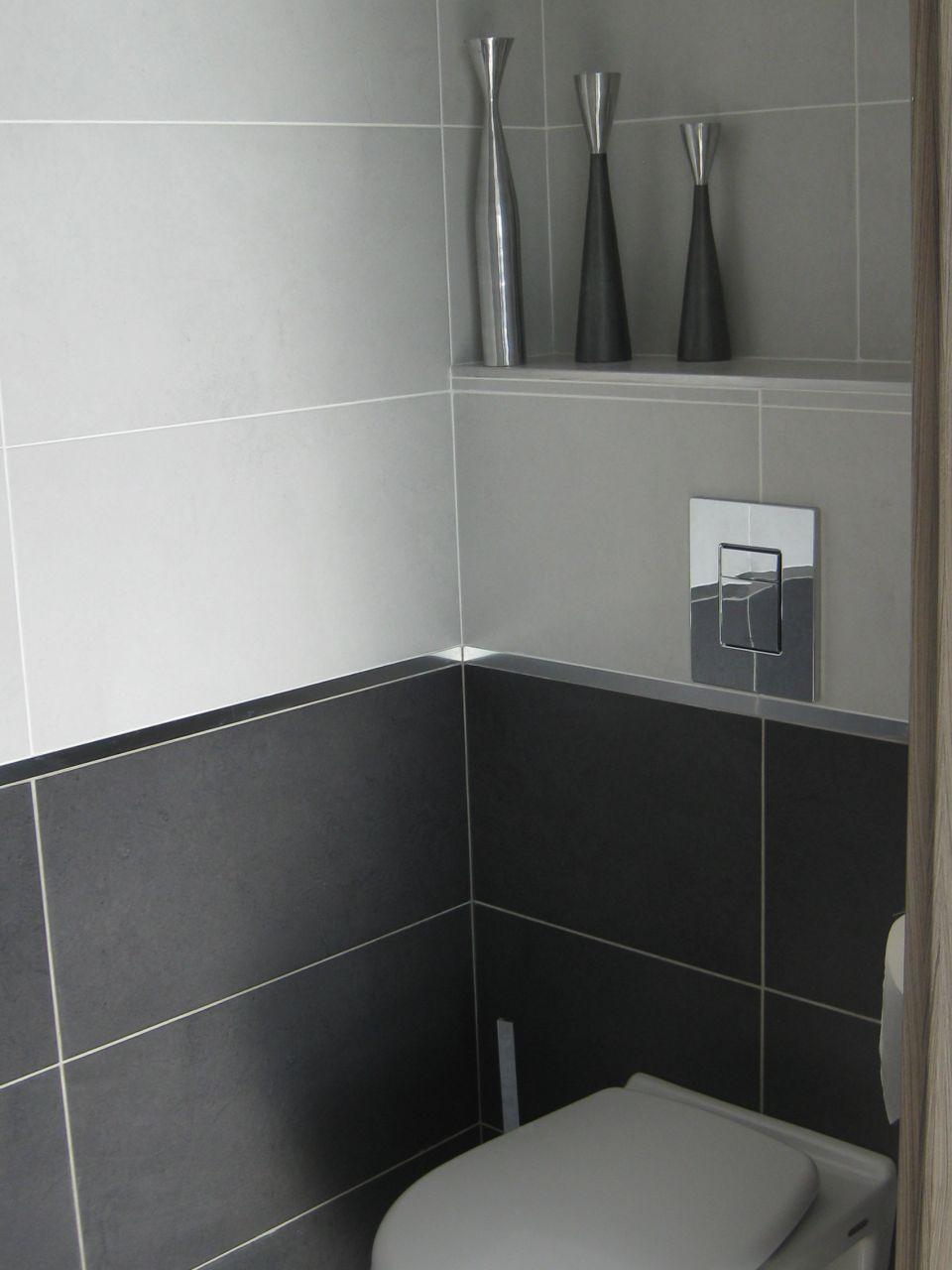 Recouvrir Frise Carrelage Salle De Bain wc invités - on a opté pour les wc et salle de bains le même
