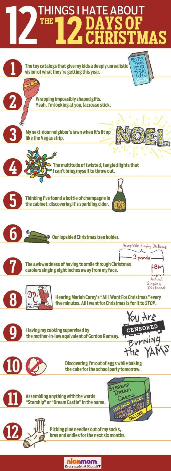 12 things we hate about the 12 days of Christmas | Happy Holidays ...
