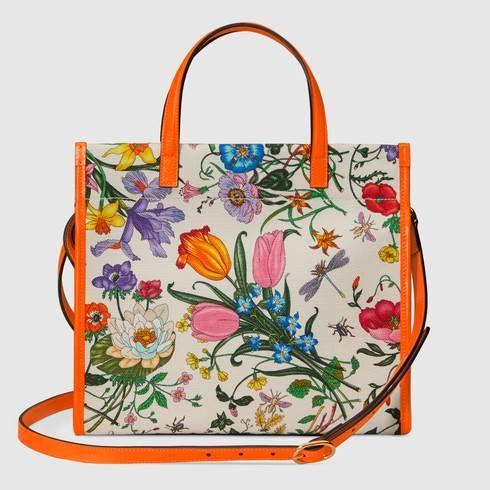 991e57a81c8 Medium Flora tote bag in 2019 | IT'S ALL ABOUT GUCCI! | Tote Bag ...